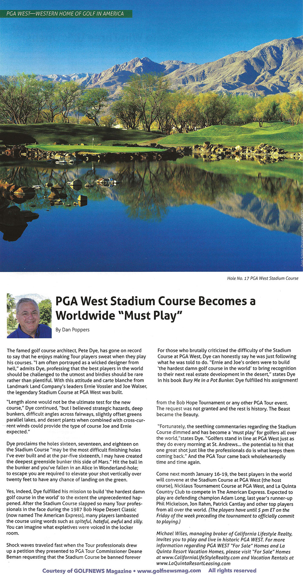 PGA WEST_California Lifestyle Realty